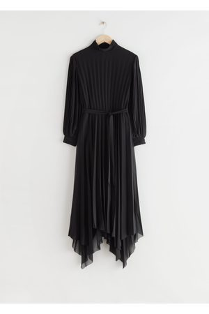 & OTHER STORIES Belted Pleated Asymmetric Midi Dress