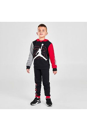 Nike Boys Hoodies - Jordan Boys' Little Kids' Jordan BOF Fleece Pullover Hoodie and Jogger Pants Set in Size 4 Fleece/Knit