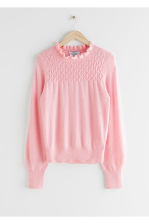 & OTHER STORIES Women Sweaters - Ruffled Collar Wool Knit Sweater