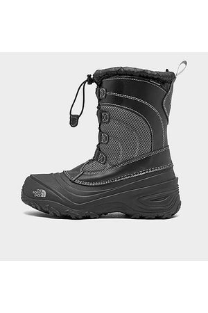 The North Face Boys Snow Boots - Boys' Little and Big Kids' Alpenglow IV Winter Boots (Sizes 10 - 7) in Size 1.0 Leather/Nylon