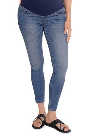 Ingrid & Isabel Maternity Crossover Panel Skinny Jeans in Medium Wash