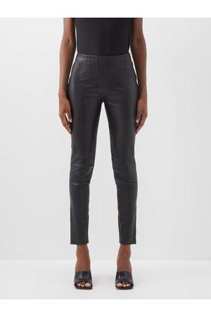 Raey Women Leggings - Elasticated-waist Leather Leggings - Womens