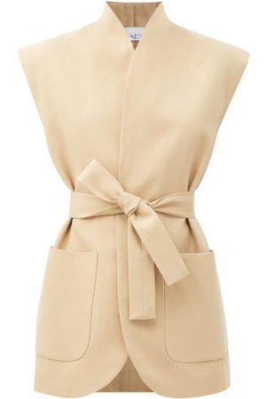Raey Women Jackets - Sleeveless Patch-pocket Cotton-blend Jacket - Womens