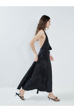 Raey Halterneck Draped-front Wraparound Silk Dress - Womens