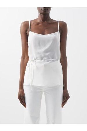 Raey Tie-waist Silk Crepe De Chine Cami Top - Womens - Ivory