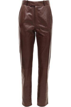 Zeynep Arcay Women Leather Pants - Mom Leather Pants