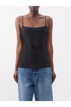 Raey Women Camisoles - Tie-waist Silk Crepe De Chine Cami Top - Womens