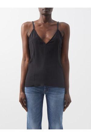Raey V-neck Silk Crepe De Chine Cami Top - Womens