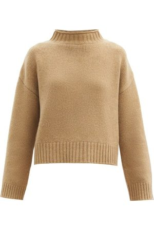 EXTREME CASHMERE Women Turtlenecks - No.163 Ken High-neck Stretch-cashmere Sweater - Womens - Camel