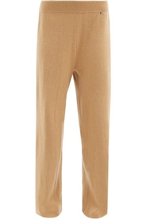 EXTREME CASHMERE Women Sweatpants - Wide-leg Stretch-cashmere Track Pants - Womens - Camel