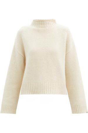 EXTREME CASHMERE Women Sweaters - No.163 Ken Stretch-cashmere Sweater - Womens - Ivory