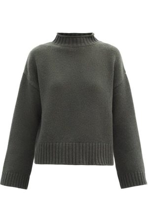 EXTREME CASHMERE No.163 Ken Stretch Cashmere Sweater - Womens - Khaki