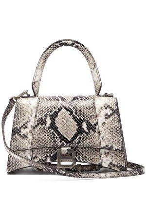 Balenciaga Women Purses - Hourglass Small Python-effect Leather Bag - Womens - Python