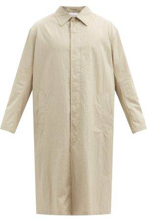 Raey Oversized Water-resistant Cotton-blend Trench Coat - Mens - Tan