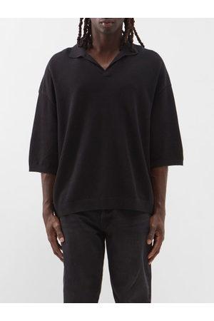 Raey V-neck Linen-blend Polo Sweater - Mens