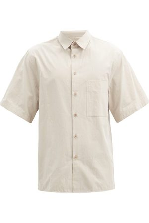 Raey Men Short sleeves - Short-sleeved Crumpled Shirt - Mens - Light Grey