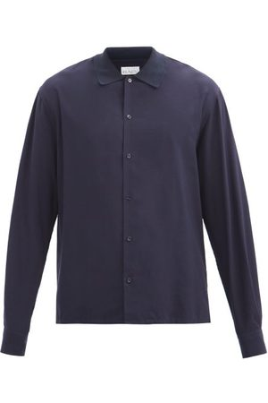 Raey Rib-collar Woven Shirt - Mens - Navy