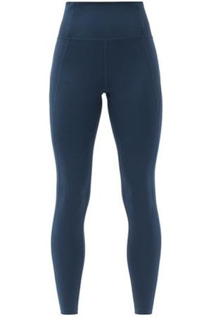 GIRLFRIEND COLLECTIVE Women Leggings - High-rise Compression Leggings - Womens - Navy