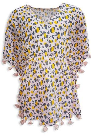 Snapper Rock Little Girl's & Girl's Leopard Love Batwing Caftan - - Size 8