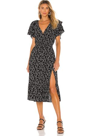 Minkpink Marbel Midi Dress in Black.