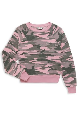 Hard Tail Girl's Camo Cropped Pullover - - Size Small (7-8)