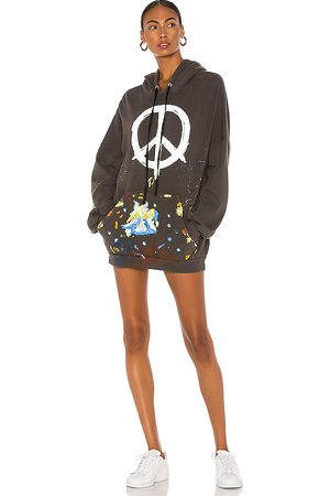 LAUREN MOSHI Desiree Hoodie Dress in Charcoal.