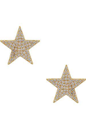 Gorjana Superstar Shimmer Statement Stud Earrings in Metallic .