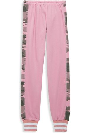 Hard Tail Girl's Sparkle Racer Stripe Pull-On Sweatpants - - Size Small (7-8)