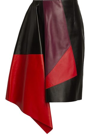 Alexander McQueen Women's Multi Patchwork Leather Skirt - - Size 40 (4)