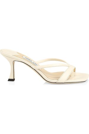 Jimmy Choo Women's Maelie Leather Thong Sandals - - Size 41 (11)