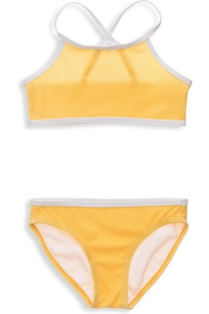 Snapper Rock Girls Bikinis - Little Girl's & Girl's Marigold Two-Piece Sports Bikini Set - - Size 10