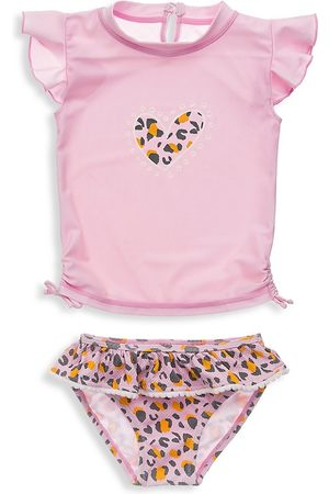 Snapper Rock Baby Girl's Leopard Love Two-Piece Top & Ruffle Bottom Set - - Size 12-18 Months