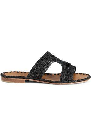 Carrie Forbes Women's Raffia Cutout Slides - - Size 36 (6) Sandals