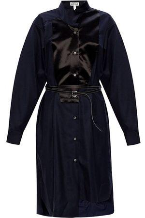 Loewe Navy Asymmetric Shirt Dress