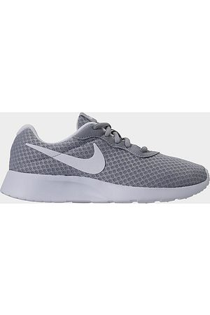 Nike Women's Tanjun Casual Shoes in Grey/Wolf Grey Size 5.0