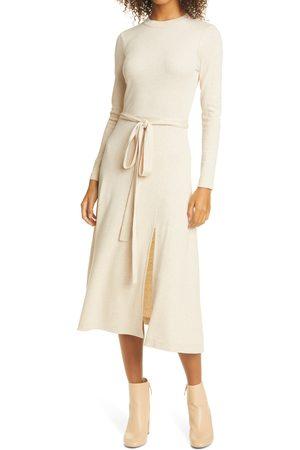 CLUB MONACO Women's Tie Waist Long Sleeve Dress