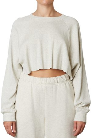 Nia Women's Rib Raglan Sleeve Crop Top
