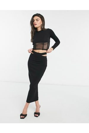 Vesper Coordinating fitted maxi skirt with cut out detail in