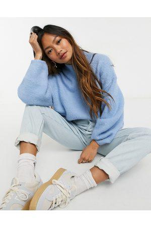 Weekday Aino high neck oversize sweater in light