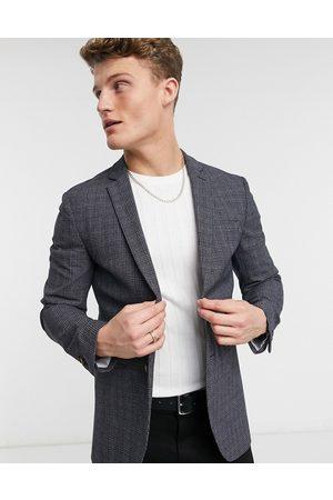 Jack & Jones Premium suit jacket in check-Grey