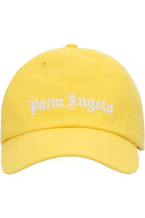 Palm Angels Men Caps - Classic Logo Cotton Canvas Cap