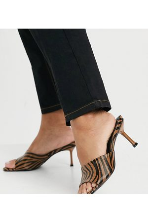 Z_Code_Z Exclusive Akira vegan friendly mule sandals in black beige zebra-Multi
