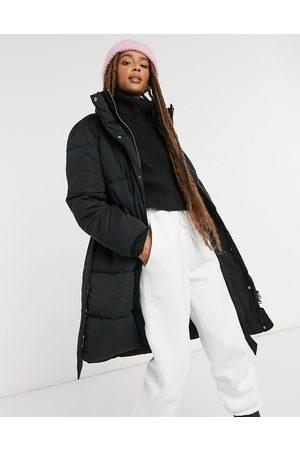 Monki Maxima padded coat with belt in