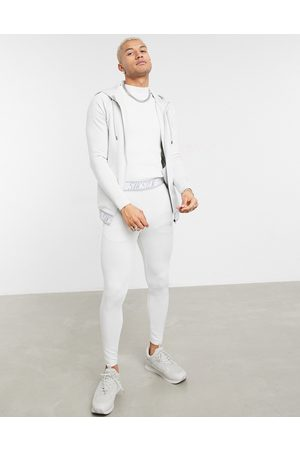 SikSilk Scope tape track pant in ice -Grey
