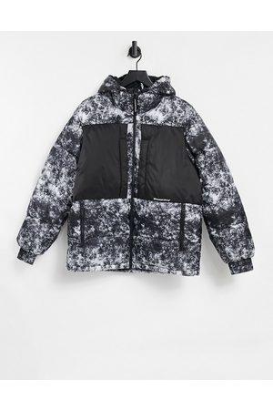 Bershka Padded printed puffer jacket