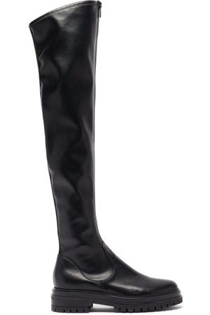 Gianvito Rossi Women Thigh High Boots - Marsden Zip-front Leather Over-the-knee Boots - Womens