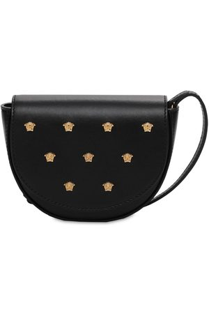 VERSACE Leather Bag W/ Decorative Medusa