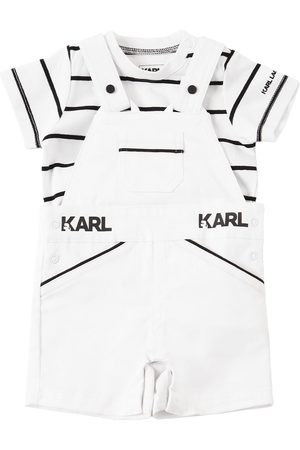 Karl Lagerfeld Boys Dungarees - Jersey T-shirt & Cotton Twill Overalls