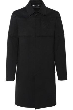 VALENTINO Men Coats - V Detail Wool & Cashmere Coat