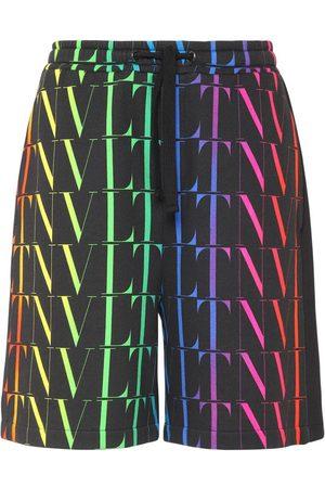 VALENTINO Vltn Times Cotton Jersey Shorts